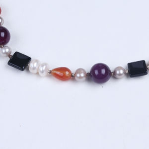 Agate Stone Beaded Necklace with Pearl pictures & photos