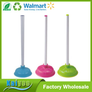 Different Colors Competitive Plastic Handle Rubber Toilet Plunger pictures & photos