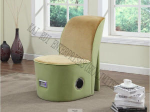 Music Storage Multifunctional Modern Plush High Heel Ottoman with Blue Tooth