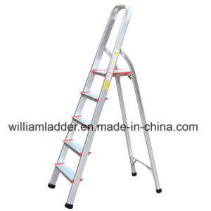 Incredible Aluminum Folding Ladder 5 Step Ladders With Big Top Pedal En131 Standard Machost Co Dining Chair Design Ideas Machostcouk