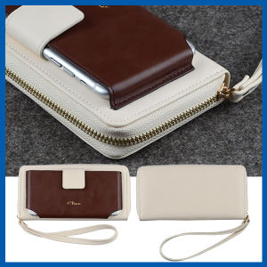 Leather Wristlet Cash Card Purse Flip Cover for iPhone 6