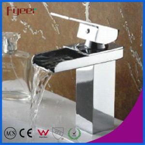 Fyeer Cheap Bathroom Waterfall Basin Faucet for Promotion pictures & photos