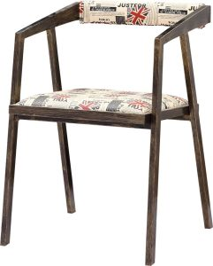 Industrial Look Vintage Retro Style Metal Chair With Soft Cushion  Upholstery For Restaurant Dining