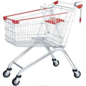 100L Metal Supermarket Trolley Provided for European Market pictures & photos