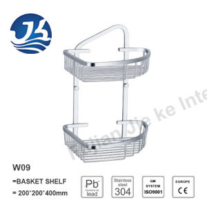 Corner Stainless Steel Bathroom Accessories Net/ Storage Rack Shelf (W09)