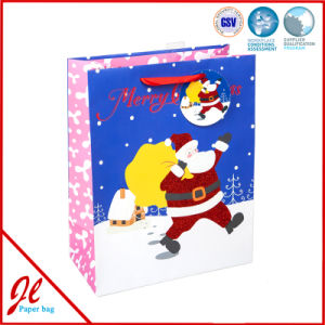 Traditional Santa XL Christmas Paper Foil Shopping Gift Bags with The Latest Design From Jingli Paper Bag pictures & photos