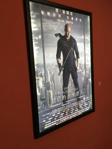 home theater indoor decorate led edge lit movie poster frame a2 light boxes