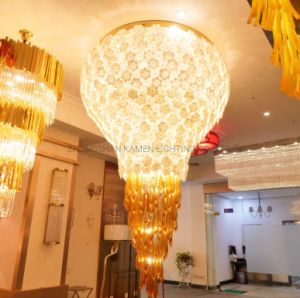 High Quality Glass Lighting Factory Outlet Hotel Lobby Flower Chandelier (km1040)