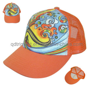 Custom Sublimation Print Sponge Front Mesh Trucker Cap (TMT01323) pictures & photos
