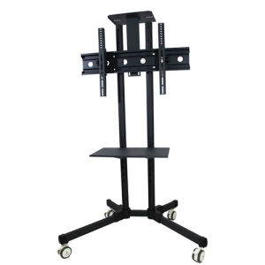 40 50 60 65 Inch Black Tall Metal Floor Flat Screen Tv Stands Floating Mounting Brackets Mobile Stand Rolling Cart For On Casters