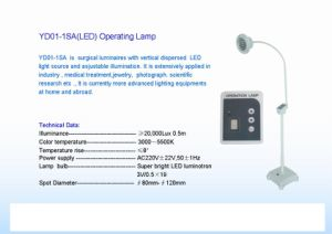 Medical Popular Operating Lamp (YD01-1SA) pictures & photos