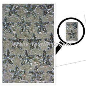 Sequin Embroidery with Five-Star Design (FLK263)