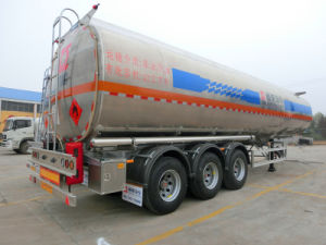 Tri-Axles 45L Aluminum Alloy Fuel Tanker Trailer