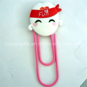 Custom 3D Soft PVC Rubber Paper Clip for Promotional pictures & photos