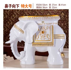 Most Popular Elephant Stool Hotel Home Decor Resin Wood Animal Style