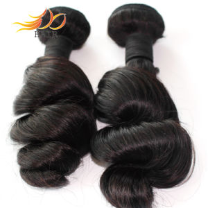 Indian Virgin Hair Weft Unprocessed Loose Wave Natural Hair pictures & photos