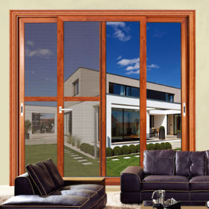 Feelingtop 2 Tracks Thermal Break Aluminum Sliding Door (FT-D80) pictures & photos