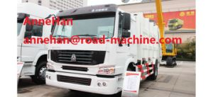 Automatic HOWO 4X2 Compacted Rear Load Garbage Truck 12m3 371HP Euroiii