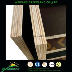 18mm One Time Hot Press Quality Fillm Faced Plywood with Brown Film pictures & photos