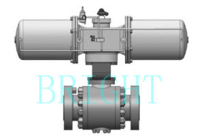 Hb2512 Pneumatic O Type High Pressure Ball Valve
