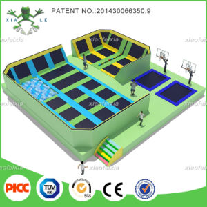 Xiaofeixia Professional Trampoline Cloth with Basketball Hoop, Foam Pit, Dodgeball pictures & photos