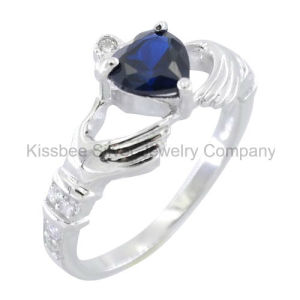 Fashionable 925 Sterling Silver Jewellery Heart Gemstone Ring (KR3101) pictures & photos