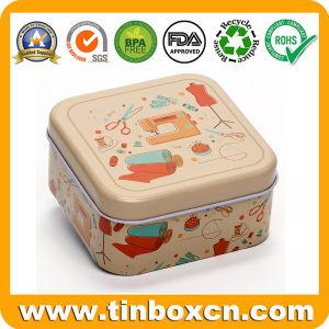 China Mini Square Metal Can Gift Tin Box for Sewing Storage China
