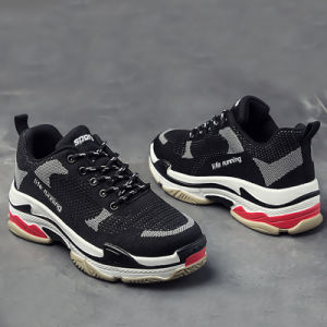 Plain Daddy Clunky Designer Fashion Hiking Running Sport Casual Men Shoes Sneaker