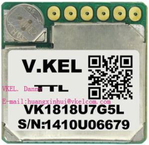 Small Size Vkel Vk1818u7g5l Dnss Glonass GPS Module with Antenna Receiver  Chipset U-G7020-Kt Supper Neo-7n Sqi Flash Ttl Drone