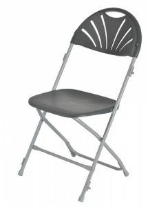 china grey folding chairs wholesale plastic fan back folding chair