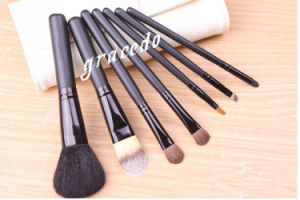 7 PCS Cosmetic Makeup Brush Set with a White Bag (YMF386)