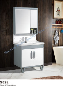 China New Model Design Pvc Bathroom Cabinet Vanity With Mirror Cabinet And Two Soft Close Doors China Bathroom Cabinet Bathroom Sanitary