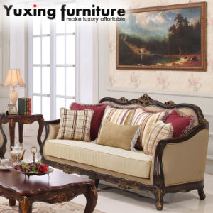 Pleasant China Antique Fabric Couch American Wooden Loveseat With Alphanode Cool Chair Designs And Ideas Alphanodeonline