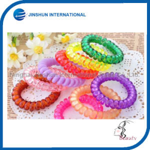 Transparency Plastic Colorful Comfortable Hair Tie