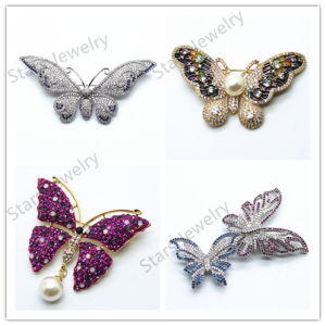 Fashion Jewelry/Micro Inlay Zircon Brooch Jewelry