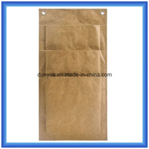 New Material Durable DuPont Paper Storage Bag, Eco-Friendly Customized Tyvek Paper Hang Bag with Three Layer Pockets