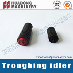 Flat Rubber Casting Troughing Conveyor Idler Roller pictures & photos