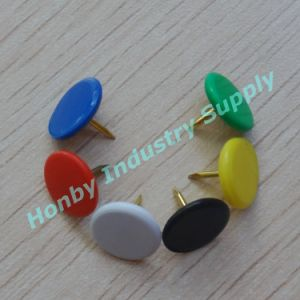 Assorted Color 9mm Plastic Coated Standard Thumb Tacks for Marking