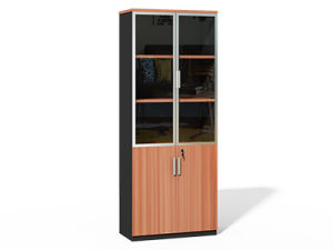 new concept d19e9 e1558 Modern Design Bookcase Double Door Filing Cabinet for Boss Office Furniture
