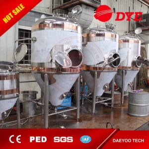 Beer Fermenters with Dual Cooling Jacket, Conical Type Fermenters, Ccv with  Agitator