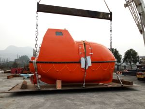 Manufacturer Totally Enclosed Type Fiberglass Lifeboat for Sale