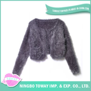 Clothing Hand Knitted Yarn Fabric Cotton Women Sweater pictures & photos