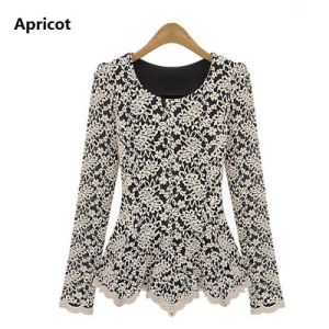 Lace Blouse Shirt Women Blusas Fashion Long Sleeve Woman Clothe pictures & photos