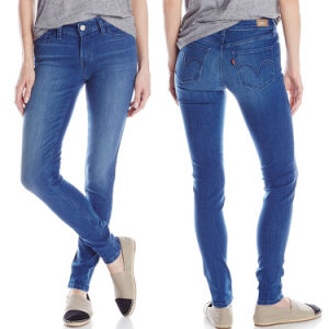 Factory Wholesale Denim Jeans Ladies Skinny Cotton Jeans pictures & photos