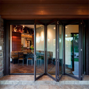 Stainless Steel Glass Folding Stacking Doors Made by Hardware Fittings pictures & photos