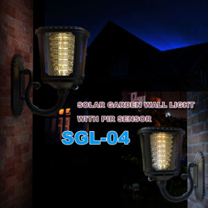 Solar LED Outdoor Light Cube Wall Outdoor Light with Timer