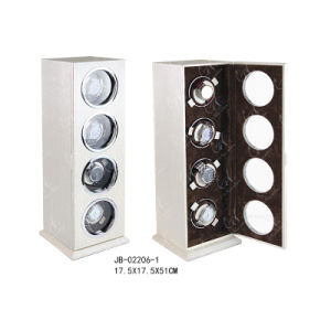 Charming Wooden Products Watch Display Case Rotating Watch Winder for 4 Watches