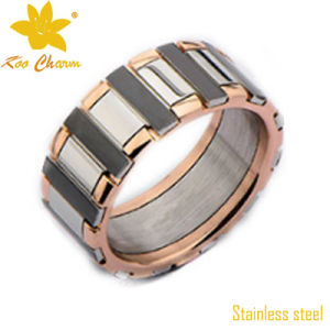 Str-009 Two-Tone Color Stainless Steel Wedding Band