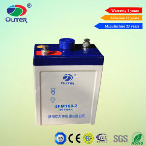 Rechargeable VRLA Battery Deep Cycle Battery 2V 100ah