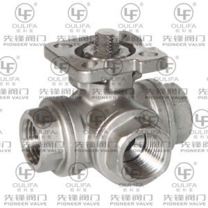 Threaded 3-Way Ball Valve with Direct Mounting Platform pictures & photos